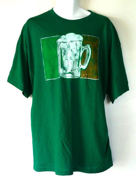 New St. Patricks Day Green Chilled Beer Mug Mens T Shirt Size XL NWT Gift Idea #Delta #Tshirt