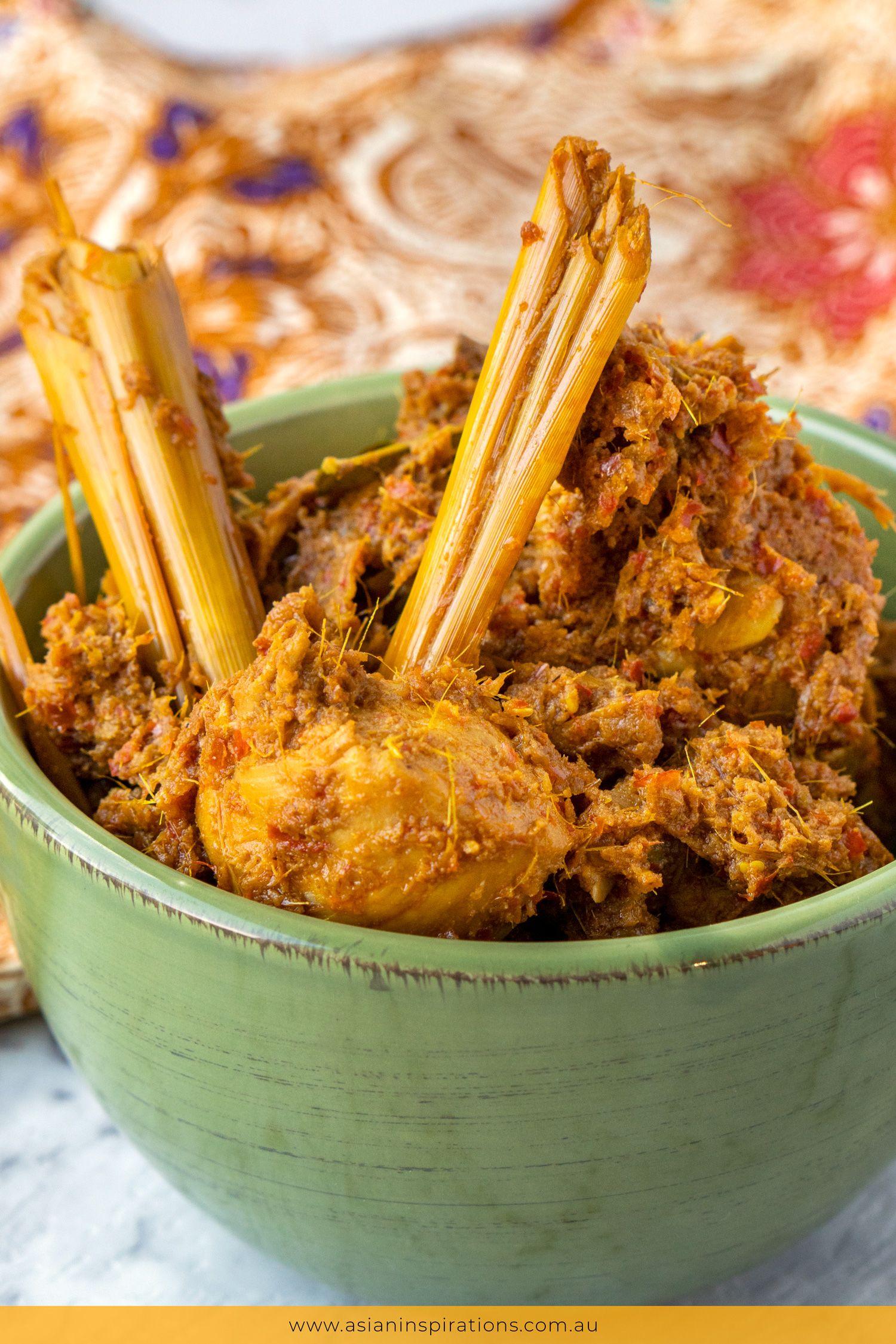 Chicken Rendang Recipe Food Recipes Malaysian Food Asian Recipes