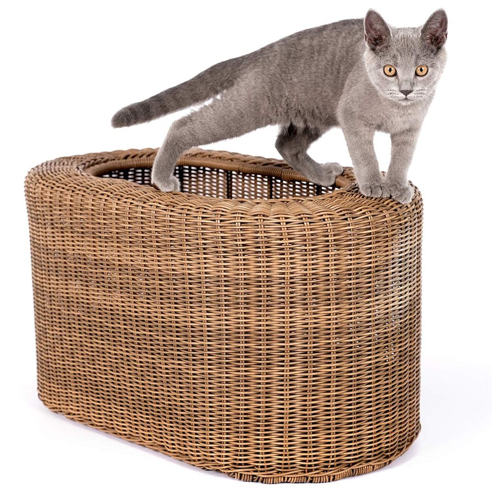 Cat House Lightweight And Stackable Save Space For Multiple Cats In Small Apartment Rattan Wicker Cat House For Indoor Cats Ki Cat Bed Indoor Cat Cat House