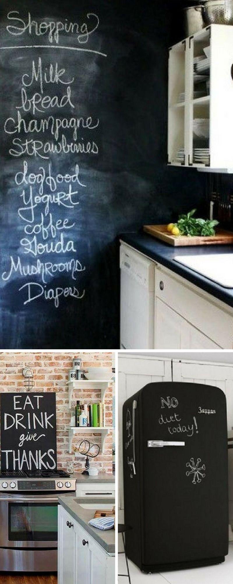 19 idées pour relooker votre cuisine avec du tableau noir