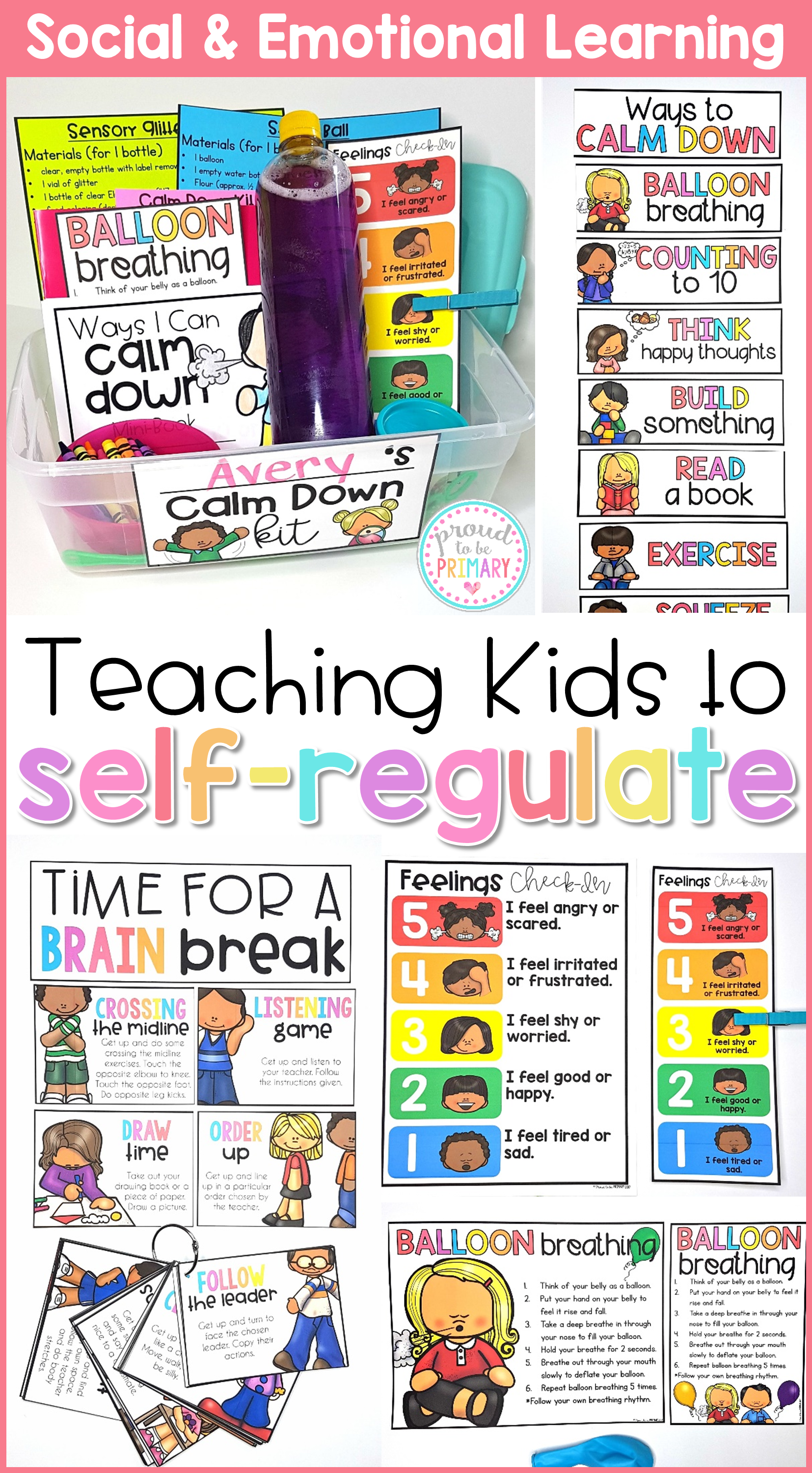 Self Regulation Calm Down Kit Amp Self Esteem Social