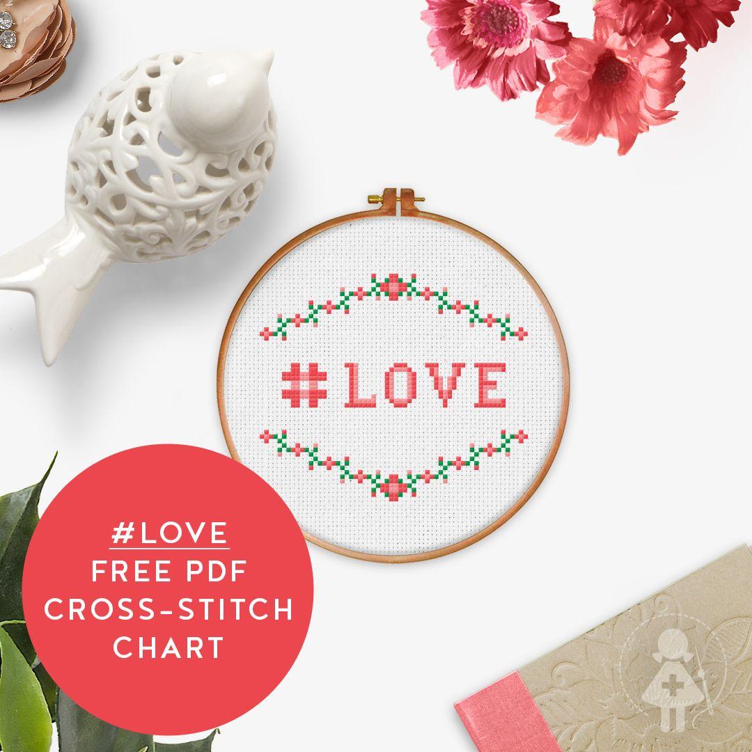 FREE PDF Cross stitch chart love spreadthelove Flower
