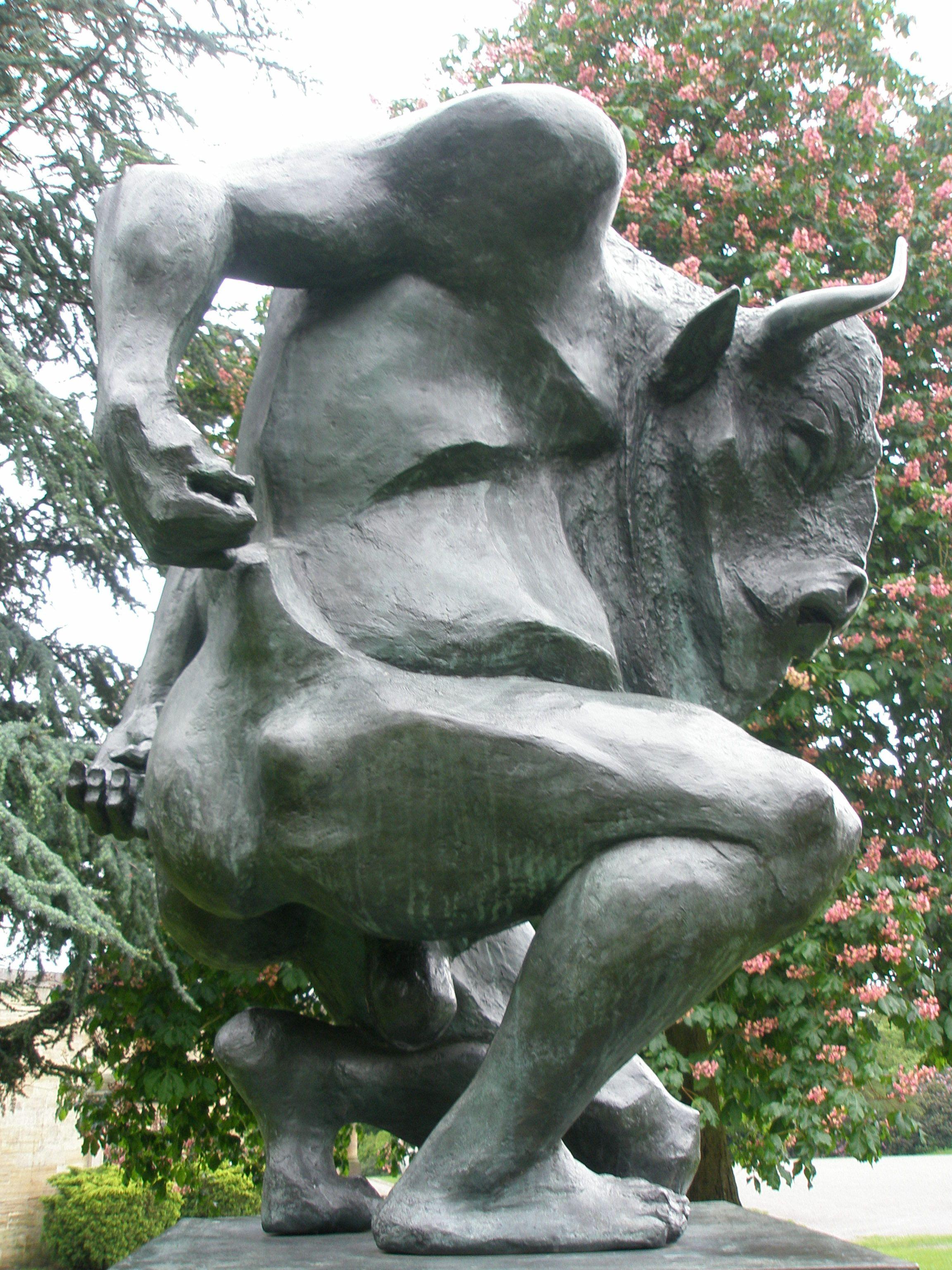 Minotaur in Yorkshire sculpture park