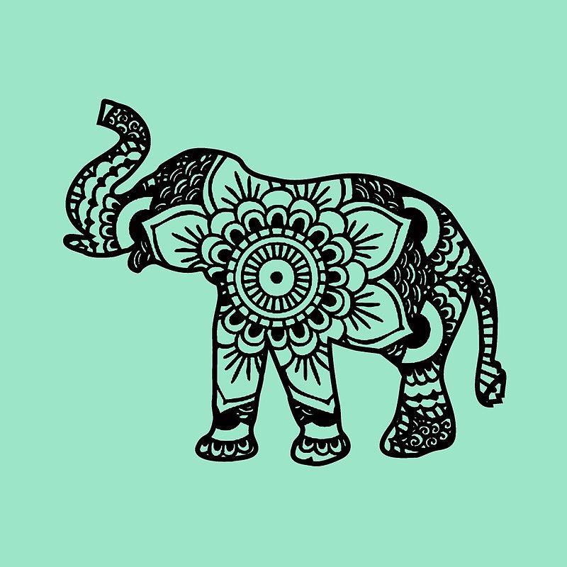 """Mandala Elephant Black"" Throw Pillows by laurauroraa | Redbubble"