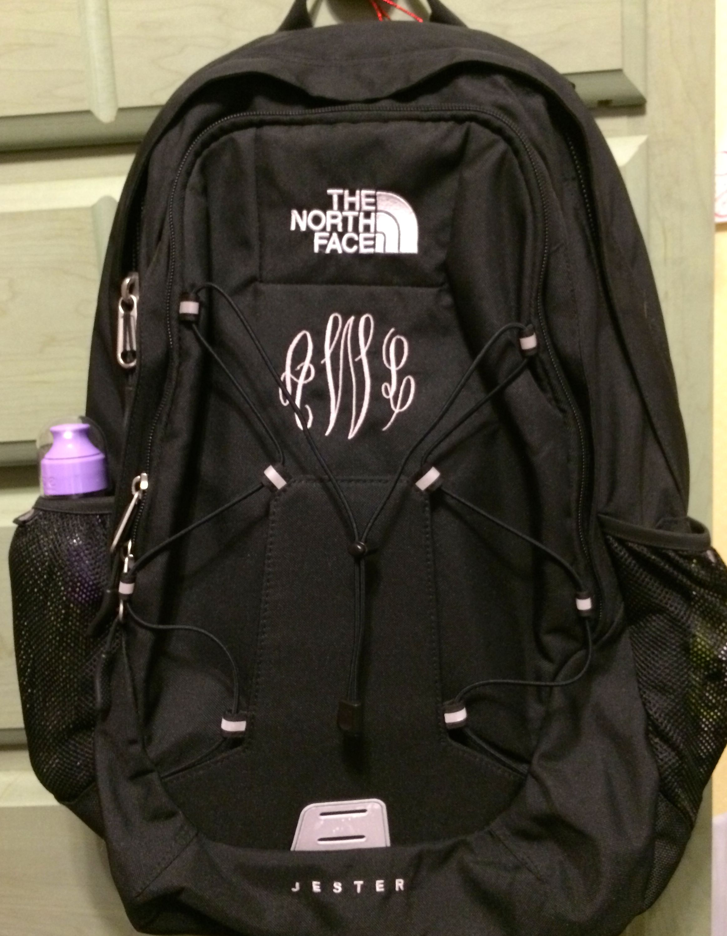 e63d899e08 Finally got my North Face backpack monogrammed!