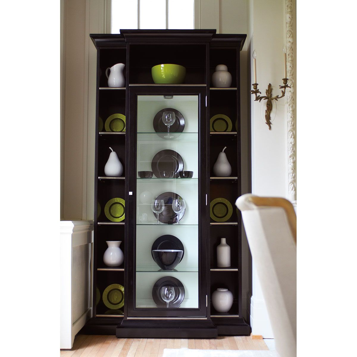 Caracole Tall, Dark And Handsome Display Cabinets CON OPNSTO 003