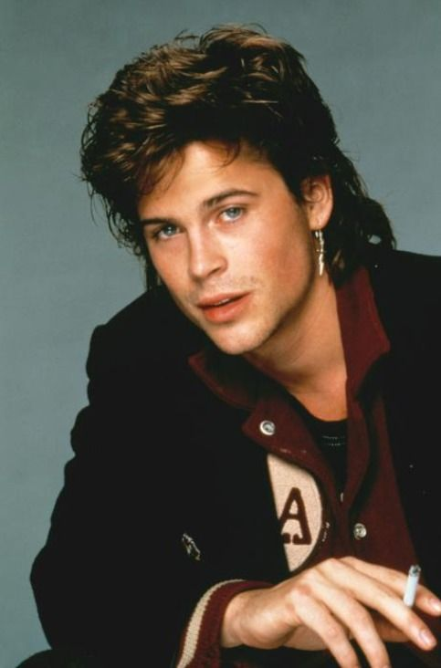 Rob Lowe With A Mullet Ahhhh In 2019 Rob Lowe Rob Lowe 80s Lowes