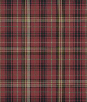 Ralph Lauren Kensington Tartan Burgundy Fabric | English