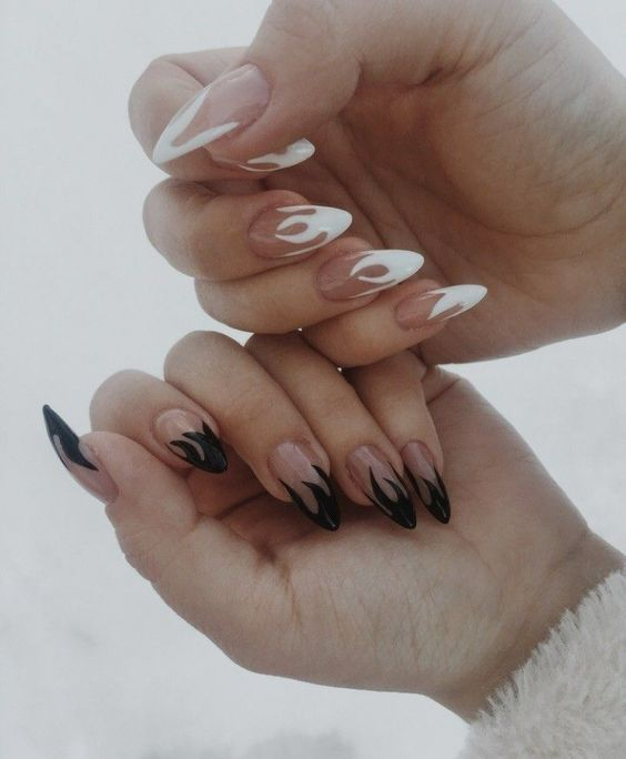 Flame Coffin Nails #