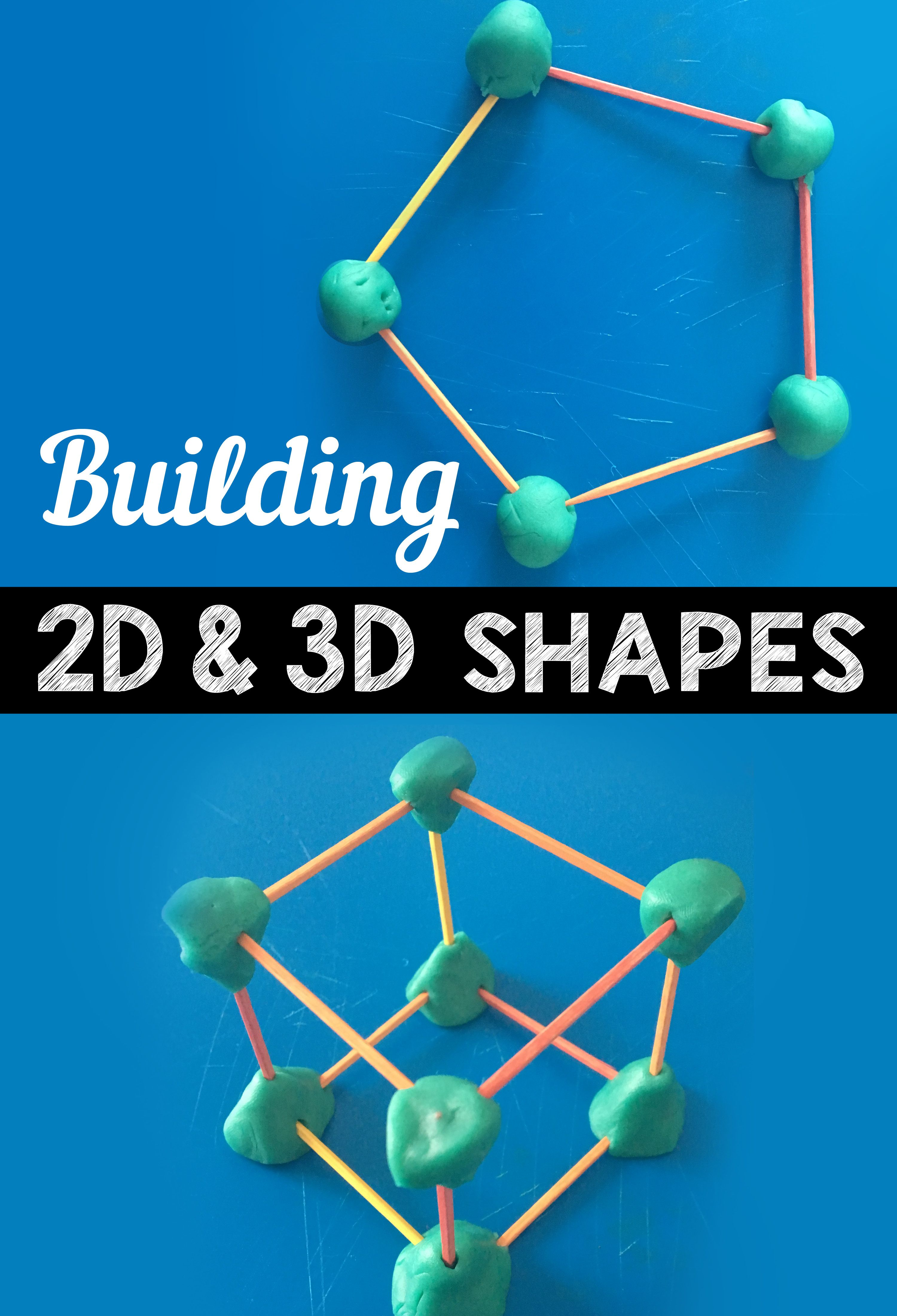 Task Cards Building 2 D And 3 D Shapes