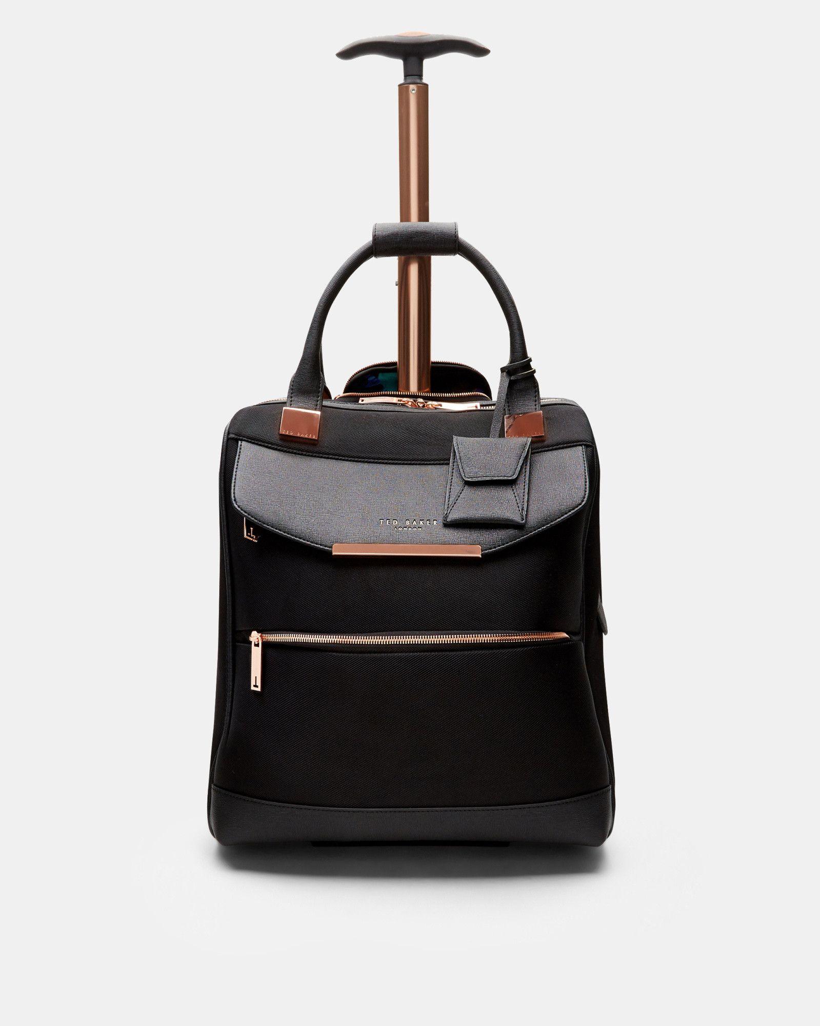 Metallic trim travel bag - Black  8007c1e81