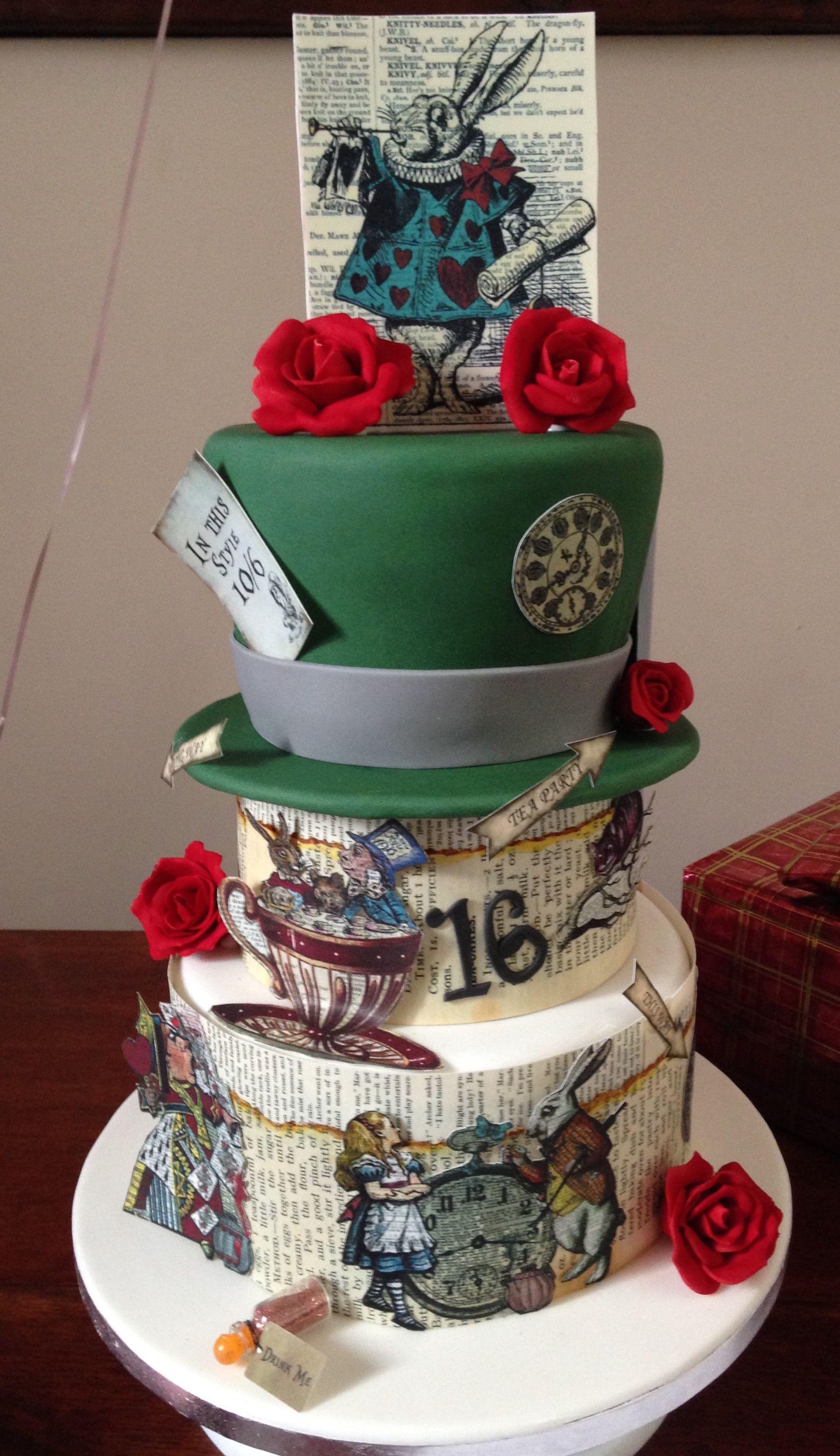 Ty Coffi Cakes Alice in Wonderland cake