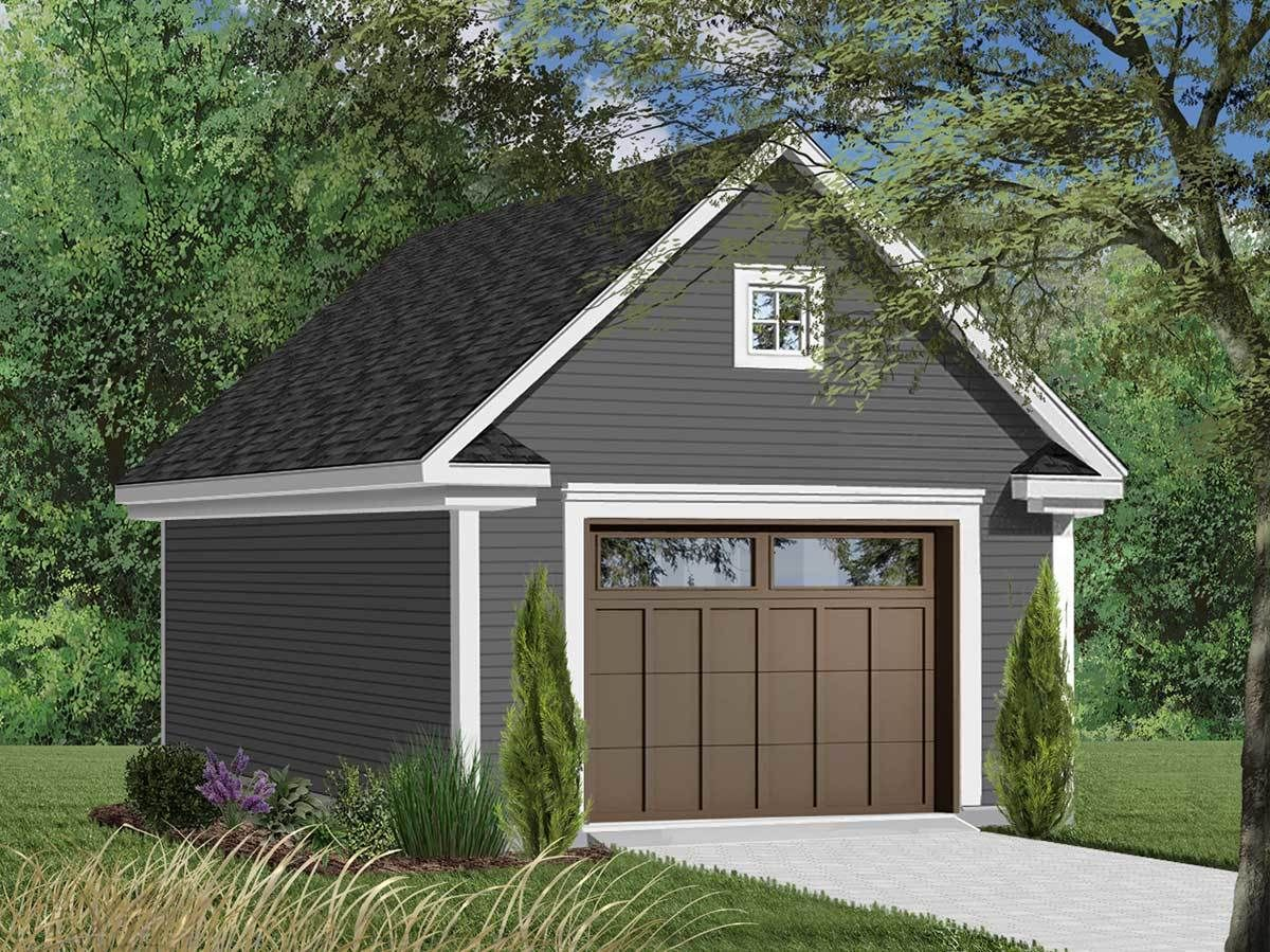 Plan 21701dr One Car Garage With Free Bonus Garage Plans With Loft Backyard Garage Garage Design