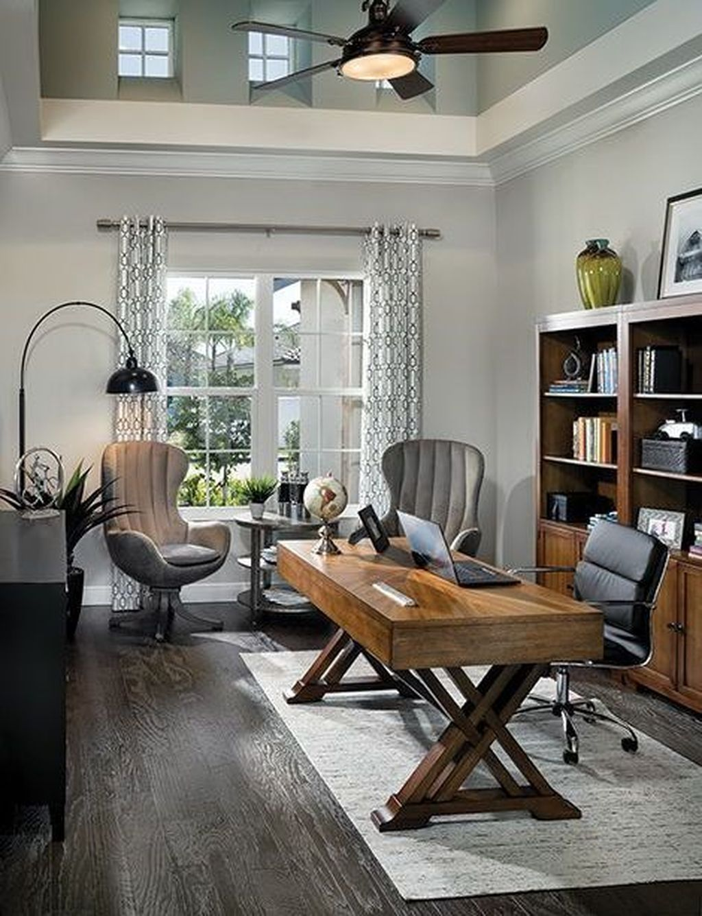 43 Extraordinary Small Home Office Design Ideas With Traditional