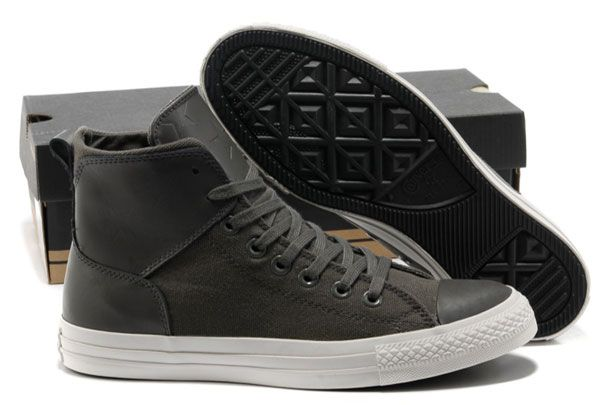 36939750194627 Grey Converse Chuck Taylor All Star City Lights High Tops Black Leather Canvas  Sneakers  converse  shoes