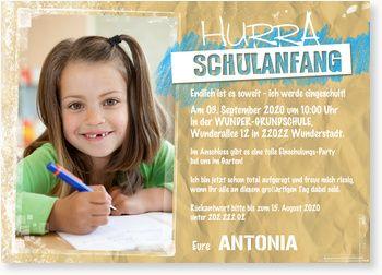 Einladung Zur Einschulung Ich Werde Eingeschult Einladung Einschulung Einladung Schulanfang Schule