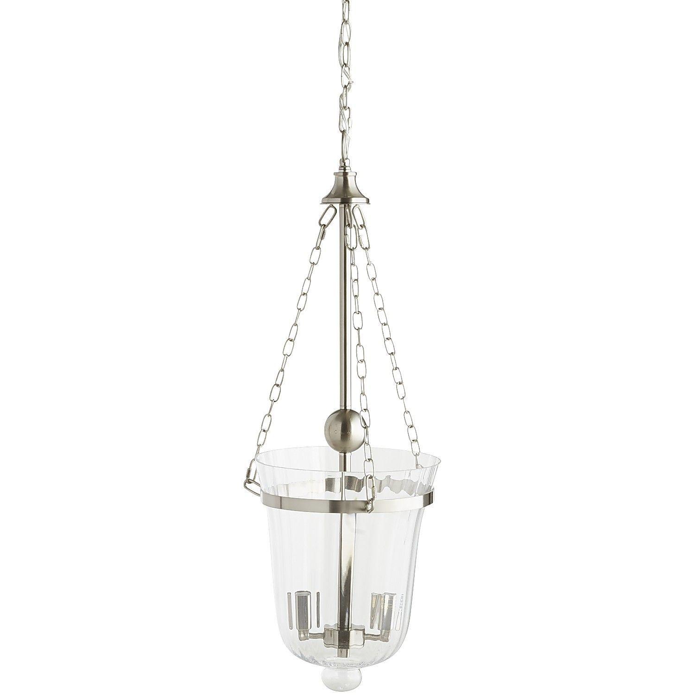 Silver Hurricane Pendant Light - Nickel - Glass - Silver Hurricane Pendant Light - Nickel - Glass *Lighting
