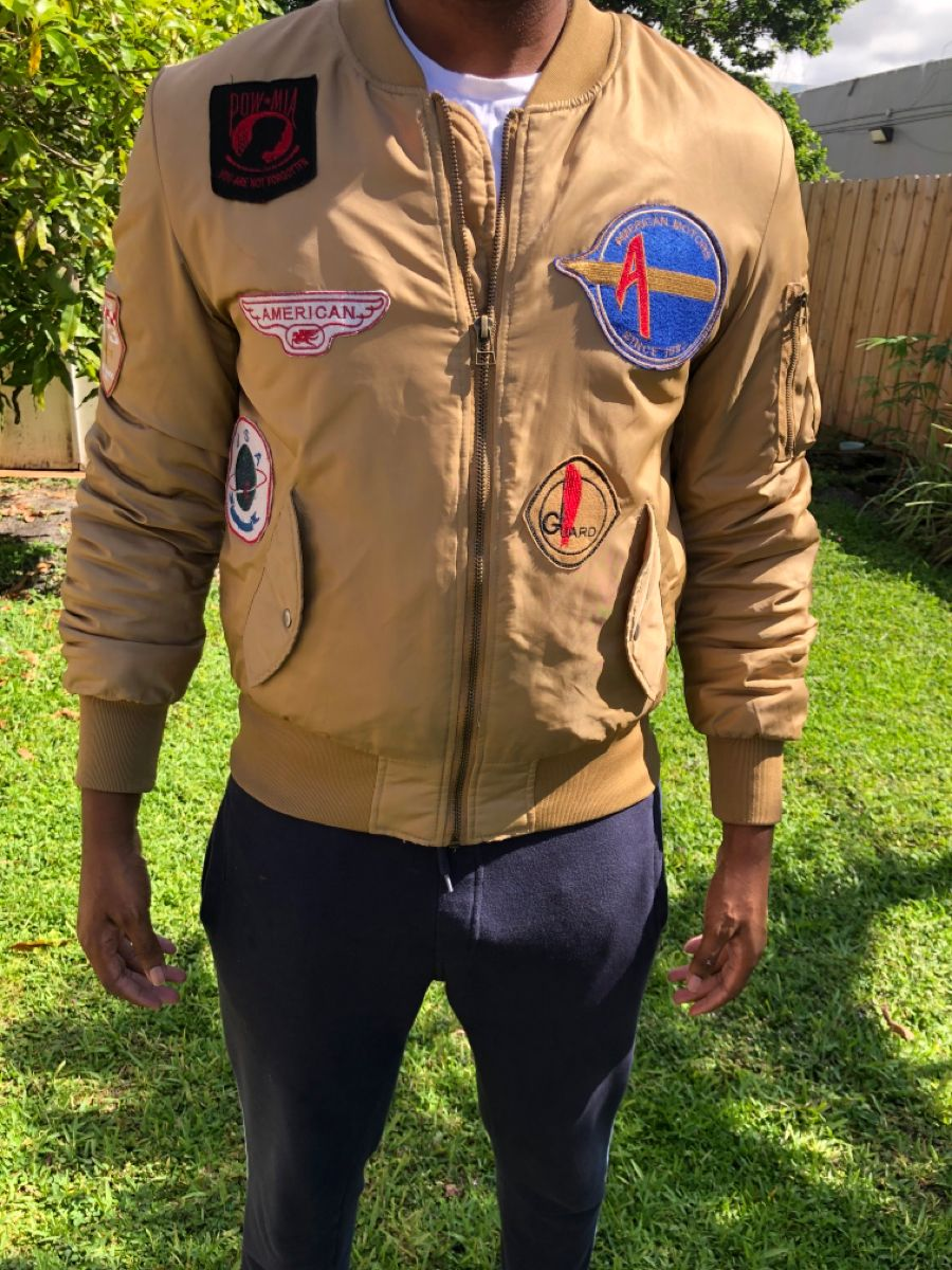 American Stitch Rare Bomber Jacket Bomber Jacket Jackets Vintage Wear [ 1200 x 900 Pixel ]