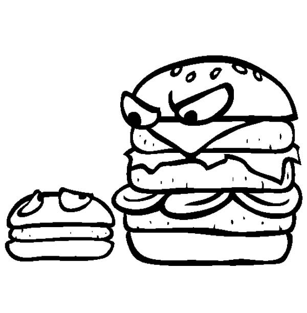 Big Burgers Is Mad To Little Burgers Junk Food Coloring Page Download Print Online Coloring Pages For Free Color Nimbus