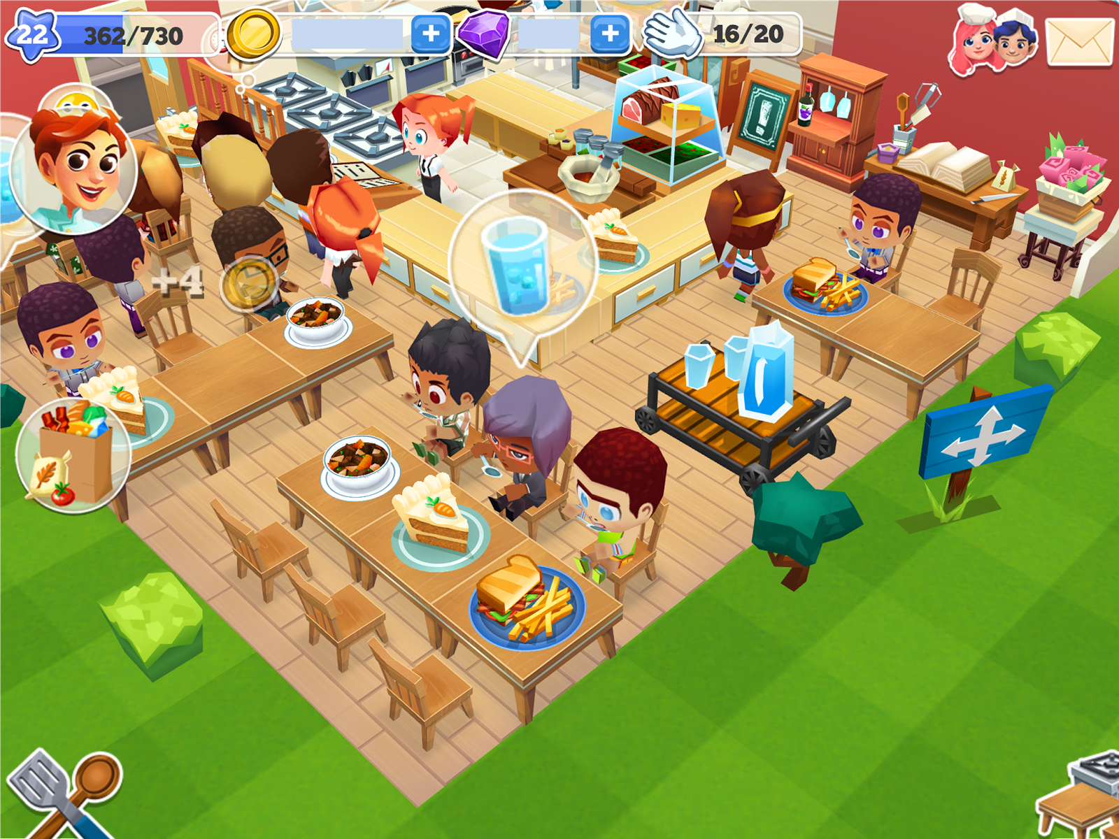 Restaurant story google search character design