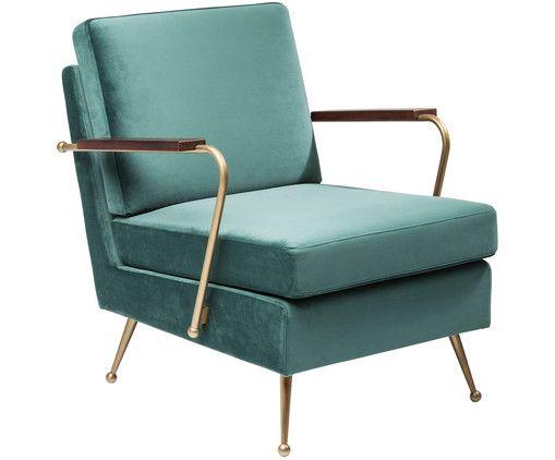 Samt-Sessel Gamble | Sessel, Gold Wohnzimmer Und Grün