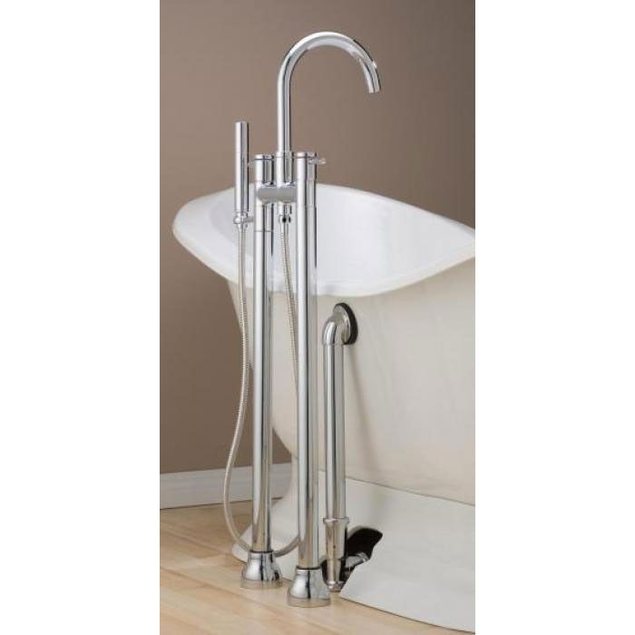 FREE STANDING FAUCET $660. Cheviot Contemporary Floor Mount High ...