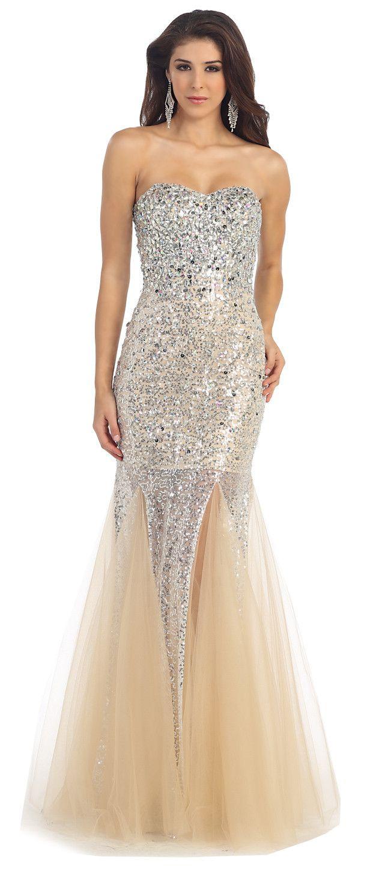 Rq u genesis bridal mermaid sequence dress with tulu prom