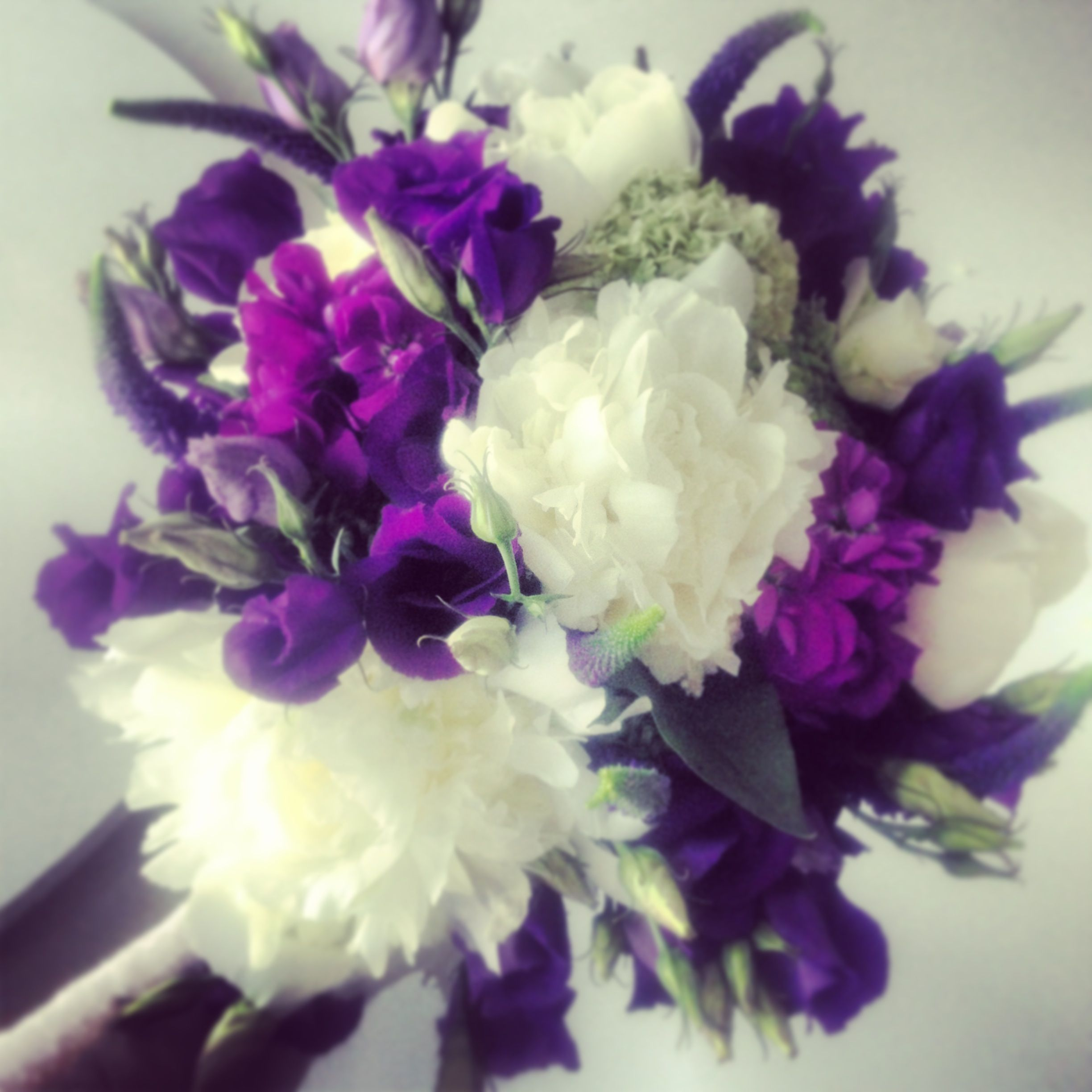Purple Wedding Flowers ...peonies For A Spring Bouquet