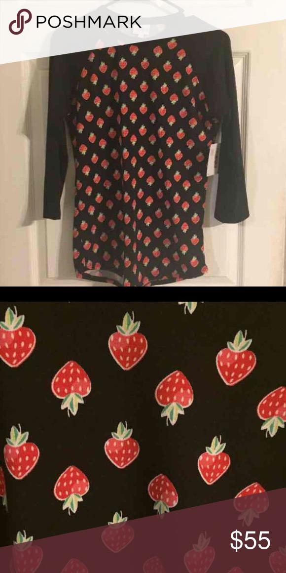 Strawberry 🍓lularoe Randy Xs Xs Randy Rare Strawberry