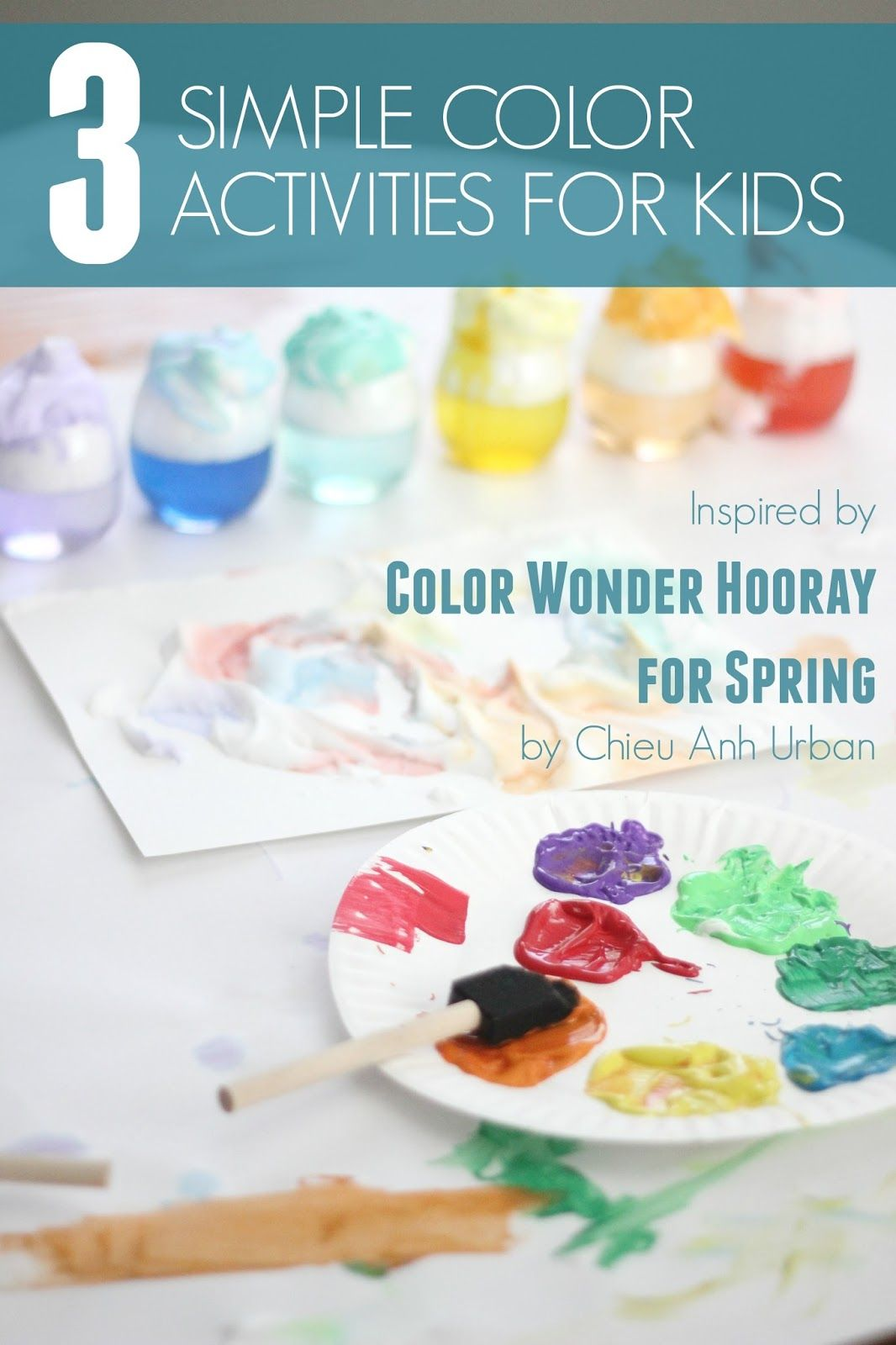 This post features some colorful activities inspired by Color Wonder: Hooray for Spring! by Chieu Anh Urban. #sponsored