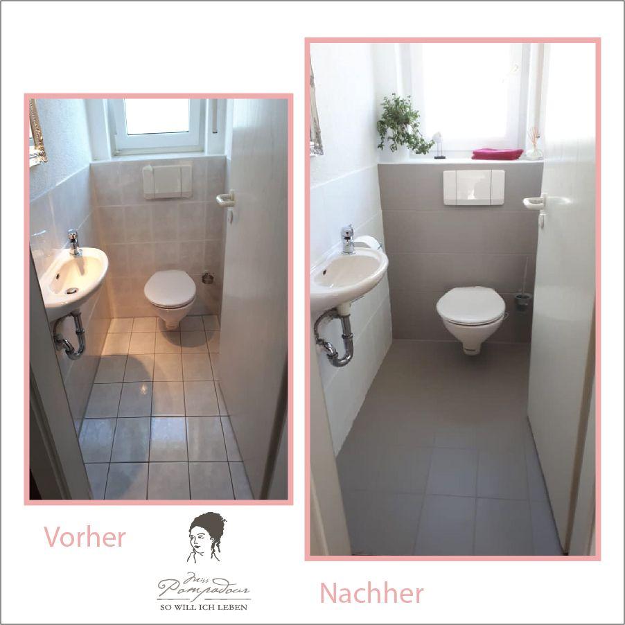 Fliesen streichen mit Kreidefarbe | Badezimmer streichen ...