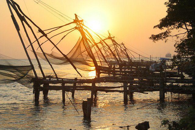 Fishing nets, Cochin by flaxman, via Flickr
