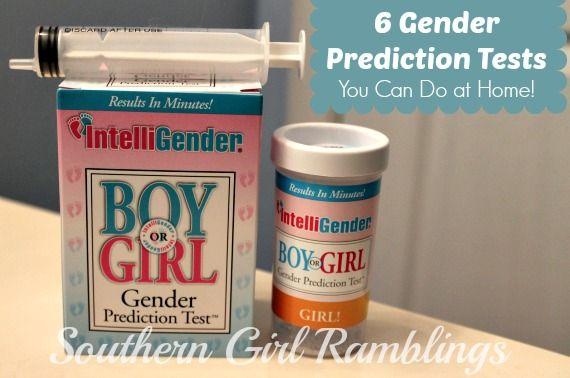 6 gender prediction tests