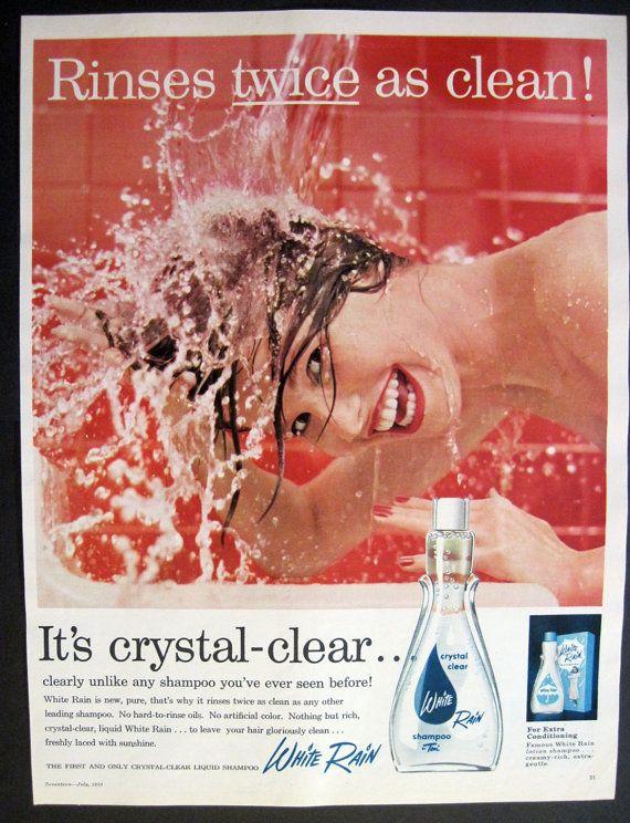 Red Bathroom Decor Splash Glamour Girl by VintageAllianceAds