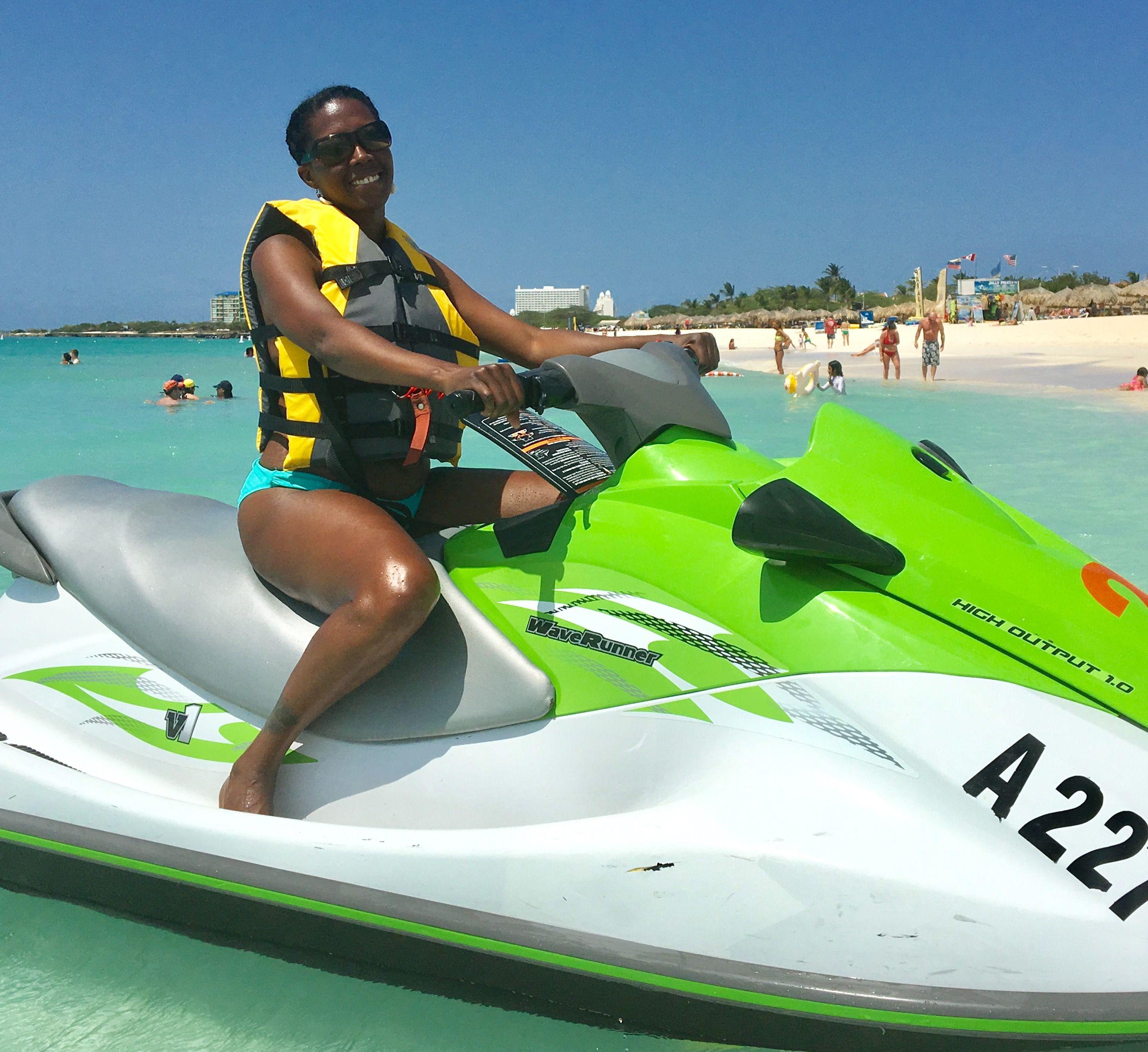 Jet Ski Palm Beach Aruba Birthday Trip 2017 Beach Palm Beach Skiing