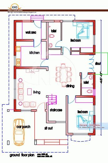 1200 sq ft house plans india g pinterest india for Build dream home online for fun
