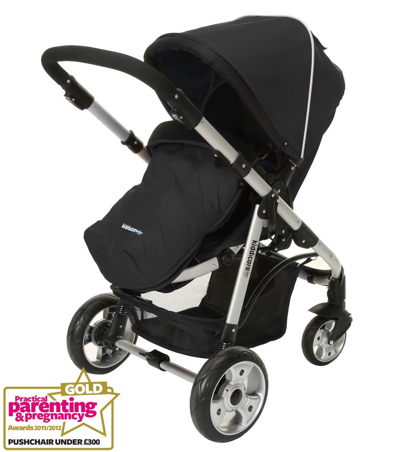 Example of a backward facing stroller, sometimes called