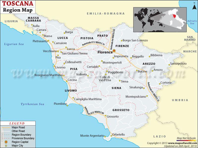 Tuscany Region Map Tuscany Pinterest Tuscany Tuscany Map - Italy capital map