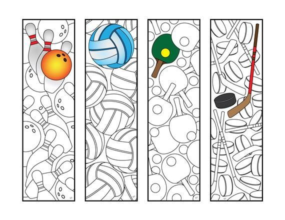 Sports 2 Bookmarks Pdf Zentangle Coloring Page Etsy In 2020 Coloring Pages Coloring Bookmarks Fairy Coloring Pages