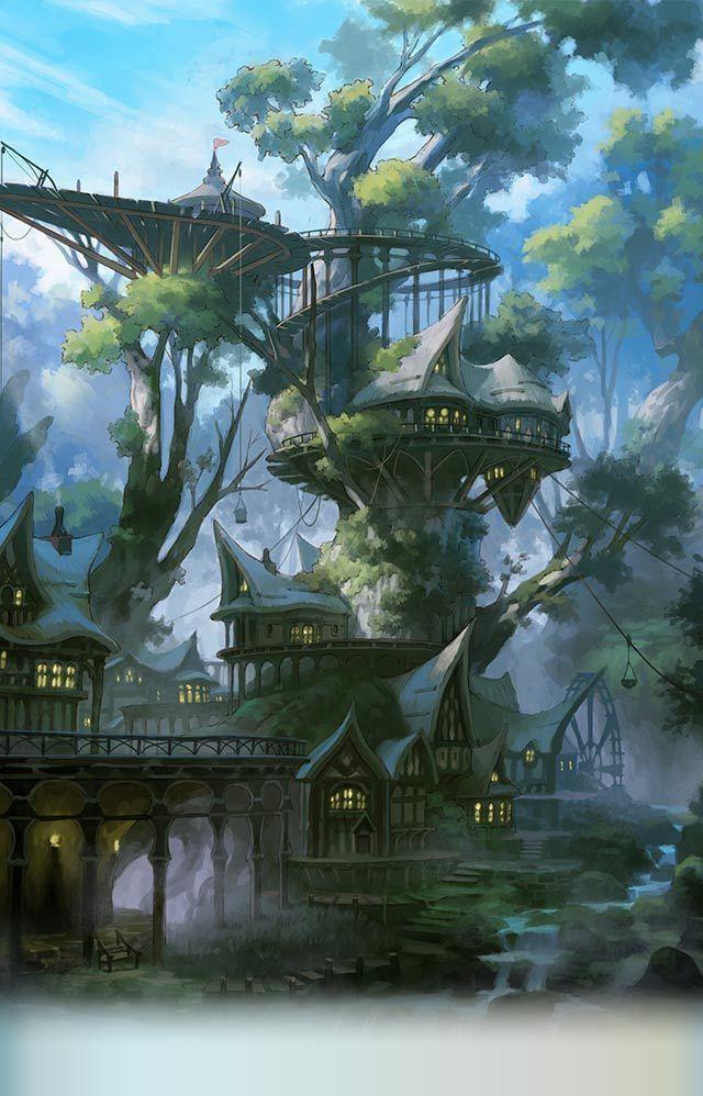 Fantasy Tree City Google Search Fantasy Landscape