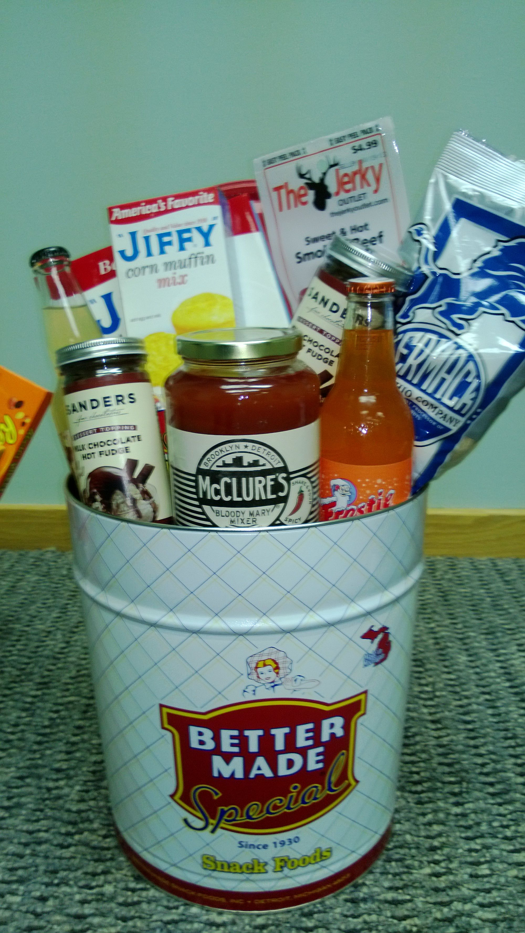 Silent Auction - Made in Michigan Basket in Commemorative Tin - use made in Illinois