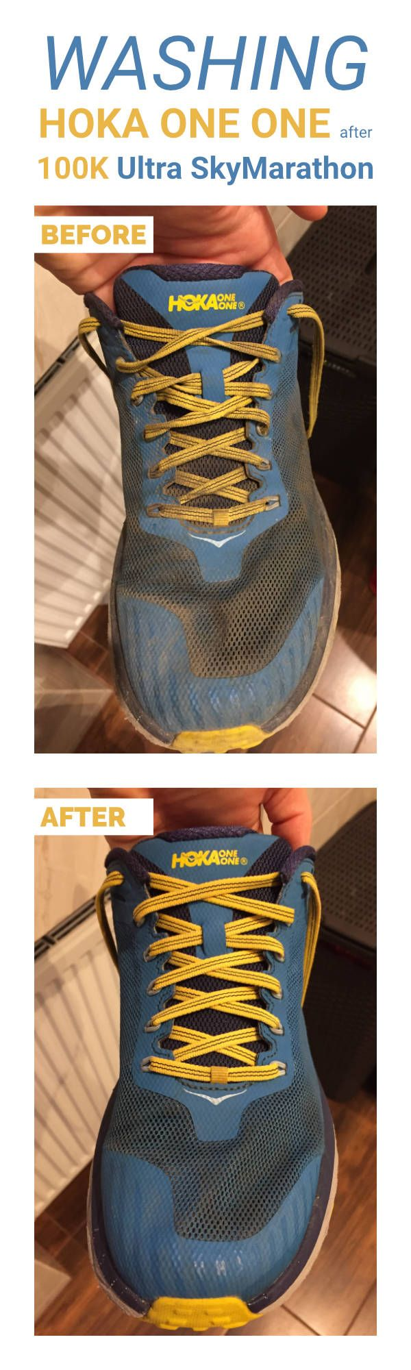 How to wash Hoka One One shoes (after