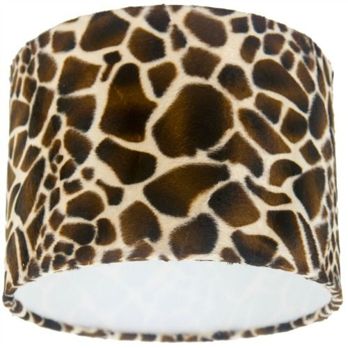 A Handmade Drum Lampshade Made With Animal Print Imitation Skin Real Suede Feel Textured Fabric Soft Pile For That Luxurious Touch Lined