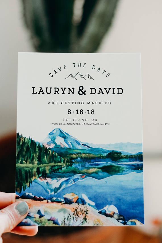 Mountain Save the Dates Invitations /& Envelopes Rustic Save the Dates Forest Save the Date Cabin Weekend Bachelorette Invites Custom