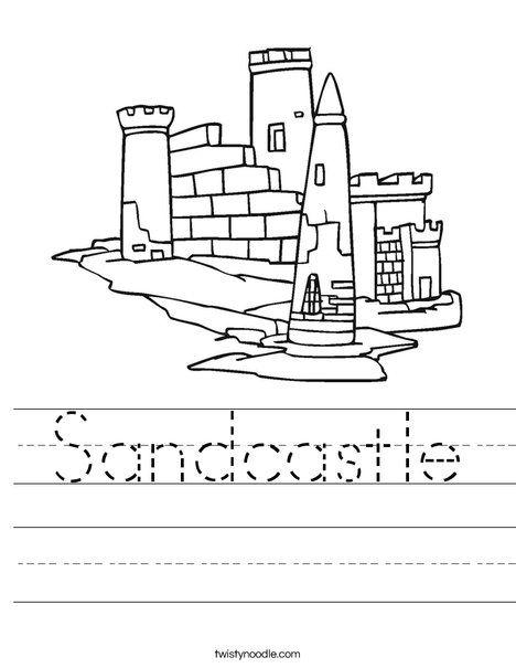 Sandcastle Worksheet - Twisty Noodle