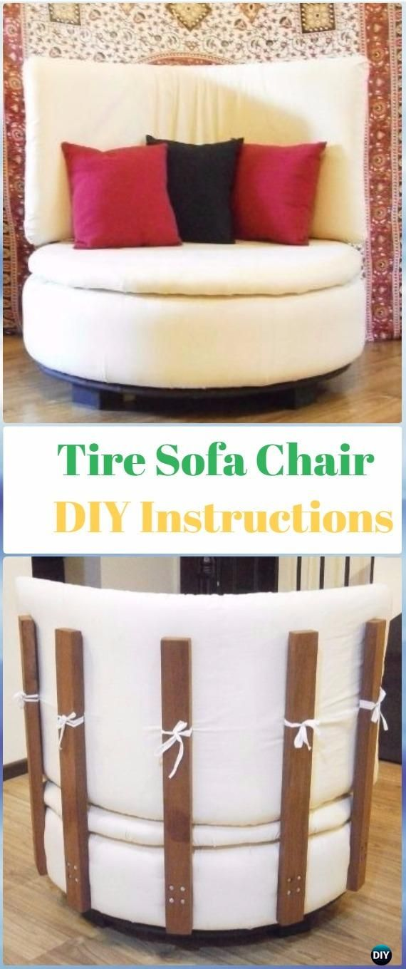 DIY Round Tire Sofa Chair Instructions