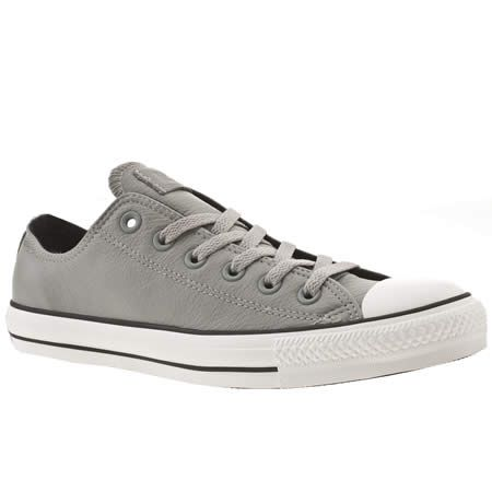 76c8bf3e19edfb grey leather converse all star sneakers Leather Converse