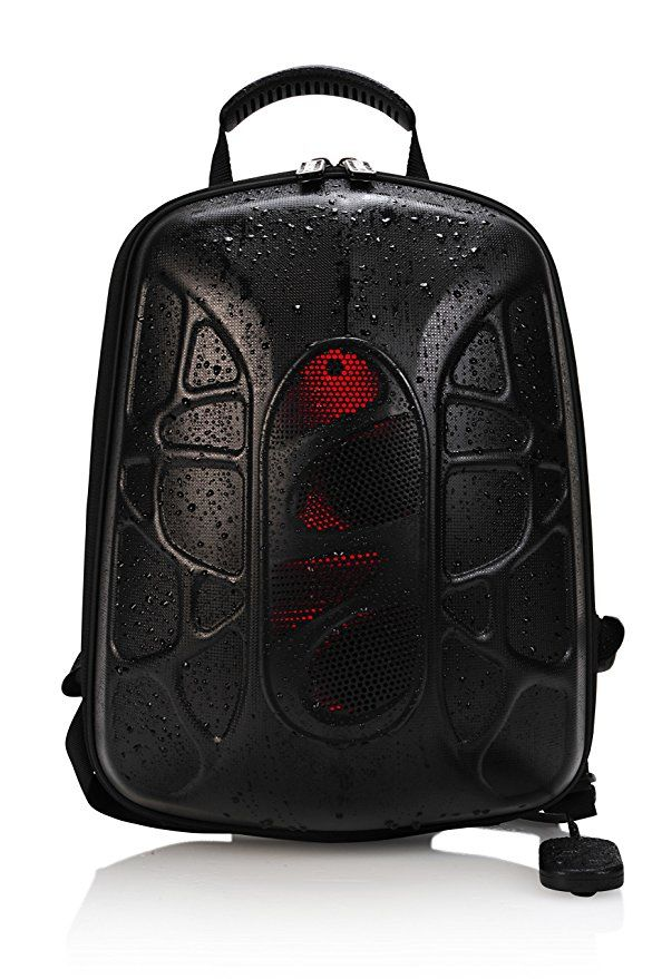 TRAKK SHELL Hiking Backpack with Waterproof Speaker - Lightweight Max-Bass Waterproof Shockproof Dustproof Stain Resistant Audio Backpack with LED and Controller: