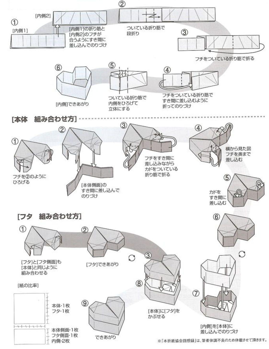 Papiroflexia Para Tod At S Caja Con Forma De Corazon Origami - Origami-corazn