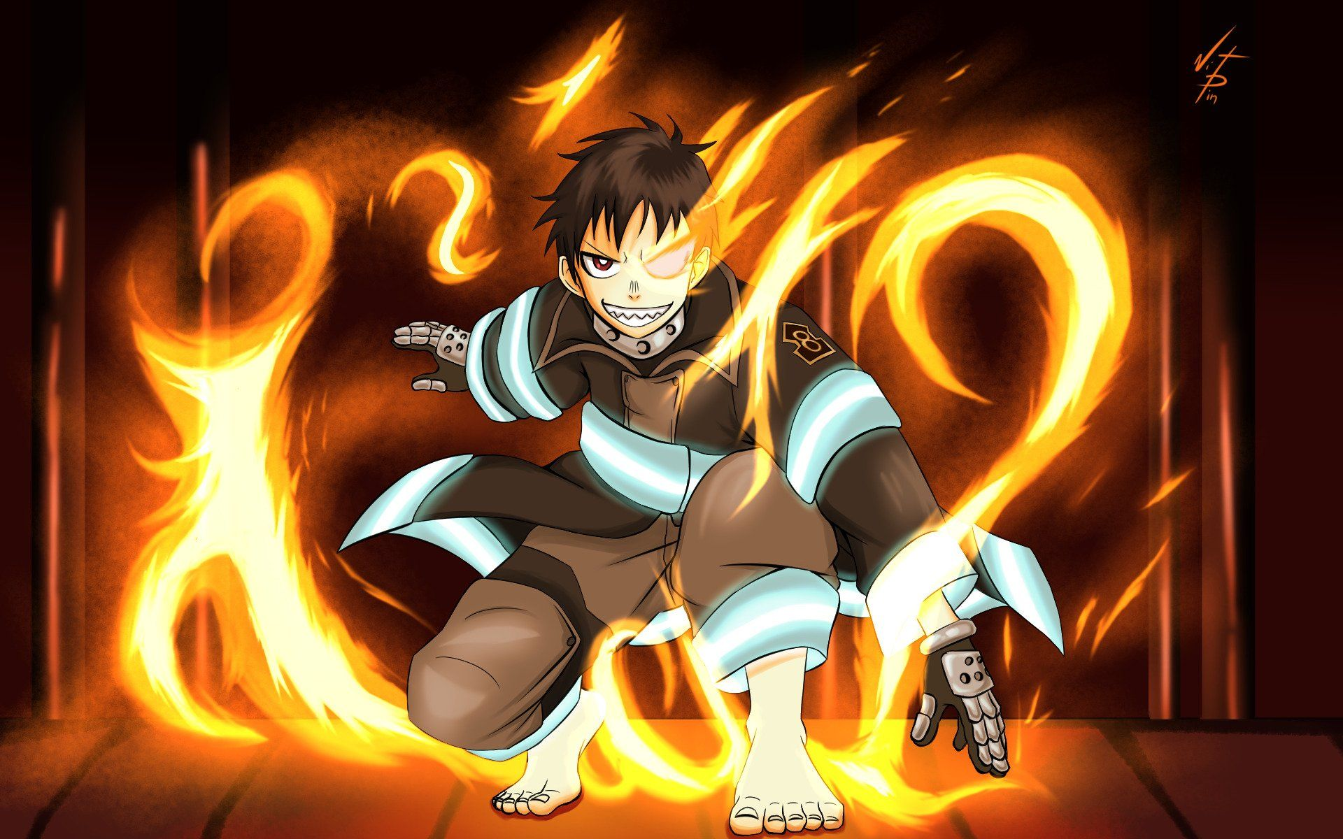 Tagged With Wallpaper Anime Wallpaper Manwha Upscale The Nerdy Girl News Fire Force Amazing Shinra Background By Shinra Kusakabe Anime Tokyo Ghoul Pictures